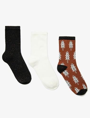 Koton 3'lü Çorap Kahve